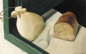 Famous paintings of Dairy & Milk: Still Life With A Provolone Cheese