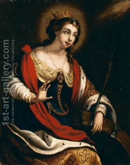 Santa Caterina by Italian School - Reproduction Oil Painting