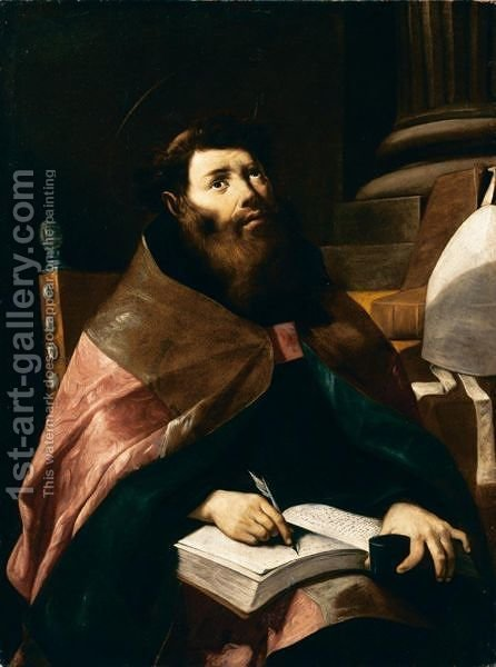 Sant'Agostino by Gregorio Preti - Reproduction Oil Painting