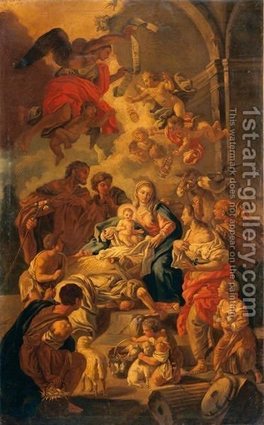 Adorazione Dei Pastori 2 by Italian School - Reproduction Oil Painting