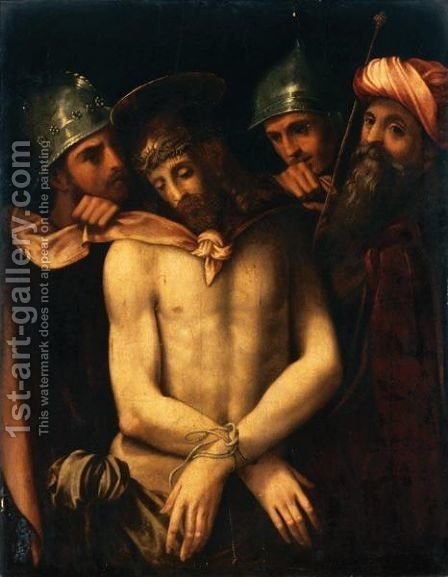 Ecce Homo 4 by Italian School - Reproduction Oil Painting