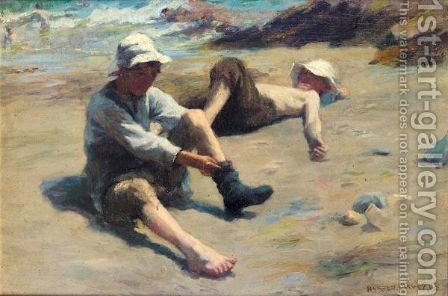 After The Swim by Harvey Harold - Reproduction Oil Painting