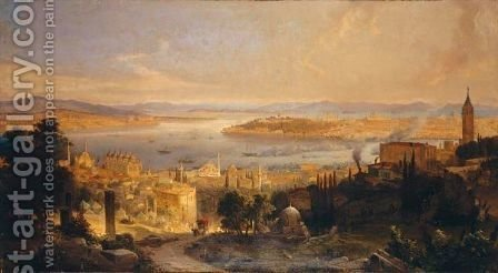 View Of Constantinople by Alexius Geyer - Reproduction Oil Painting