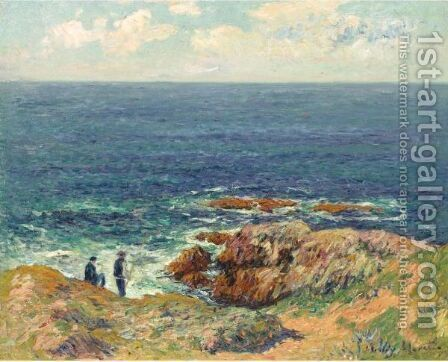 La Cote Bretonne by Henri Moret - Reproduction Oil Painting