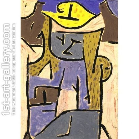 Paul Klee: Madchen Mit Gelbem Hut - reproduction oil painting