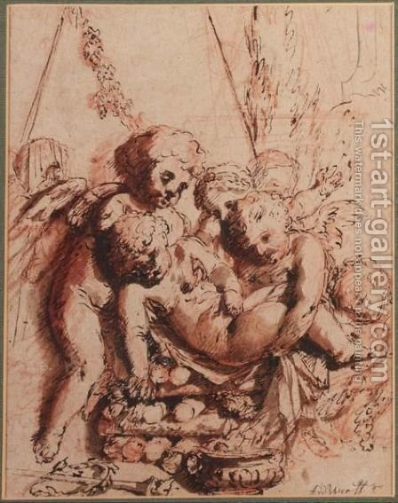 Putti by Adriaen Van Der Werff - Reproduction Oil Painting