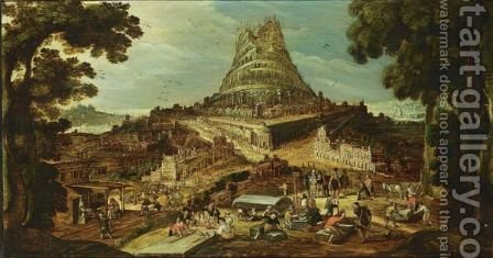 The Building Of The Tower Of Babel by (after) Hendrick Van Cleve - Reproduction Oil Painting