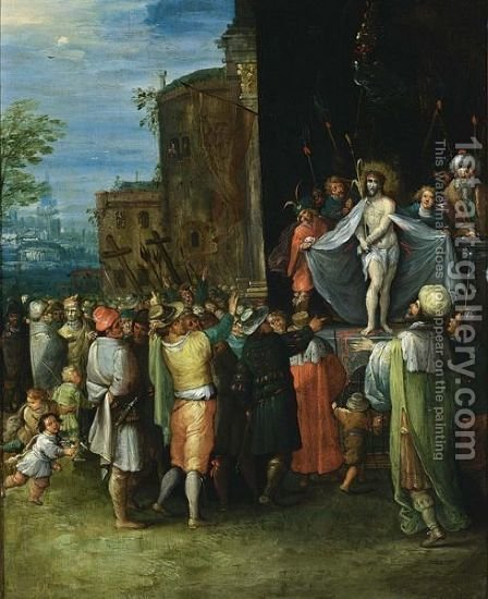 Ecce Homo Christ Shown To The People by (after) Frans II Francken - Reproduction Oil Painting