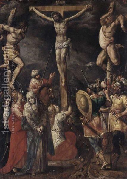 The Crucifixion 3 by (after) Frans II Francken - Reproduction Oil Painting