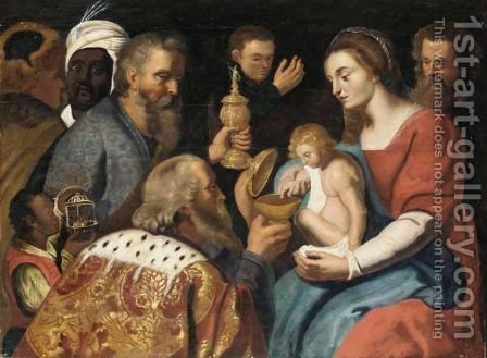 The Adoration Of The Magi 10 by (after) Sir Peter Paul Rubens - Reproduction Oil Painting