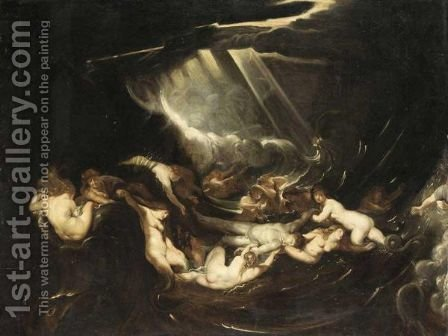 Hero And Leander by (after) Sir Peter Paul Rubens - Reproduction Oil Painting