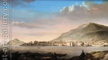 A View Of Dubrovnik From The South East by Italian School - Reproduction Oil Painting
