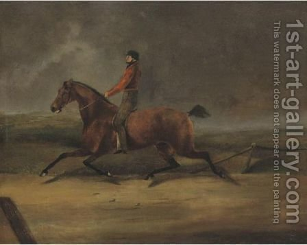 Flying Dutchman Ridden By Hiram Woodruff by Henri Delattre - Reproduction Oil Painting