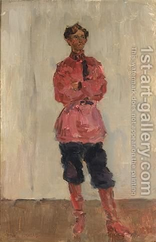 A Portrait Of A Cossack by Isaac Israels - Reproduction Oil Painting