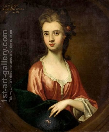 Portrait Of Lady Mary Keith by (after) Sir John Baptist De Medina - Reproduction Oil Painting