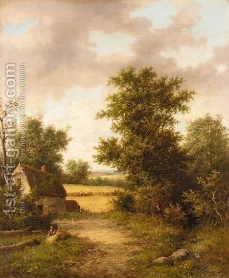 Stream Near Elham, Ken by (after) William Lara - Reproduction Oil Painting