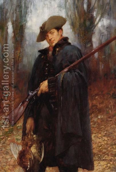 The Gamekeeper by (after) William A. Breakspeare - Reproduction Oil Painting
