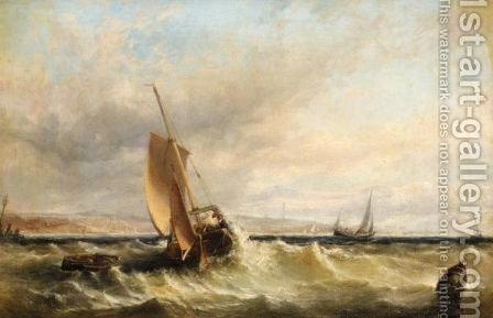 Rough Water by (after) Edwin Hayes - Reproduction Oil Painting