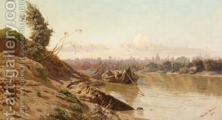 A View Of Rome by (after) Harald Adolf Nikolaj Jerichau - Reproduction Oil Painting