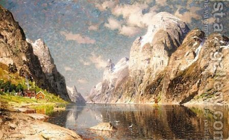 The Fjord 2 by Adelsteen Normann - Reproduction Oil Painting