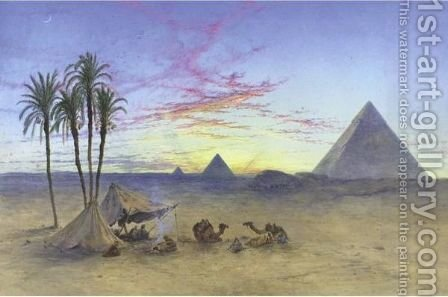 Sunset Over The Pyramids by Henry Stanier - Reproduction Oil Painting