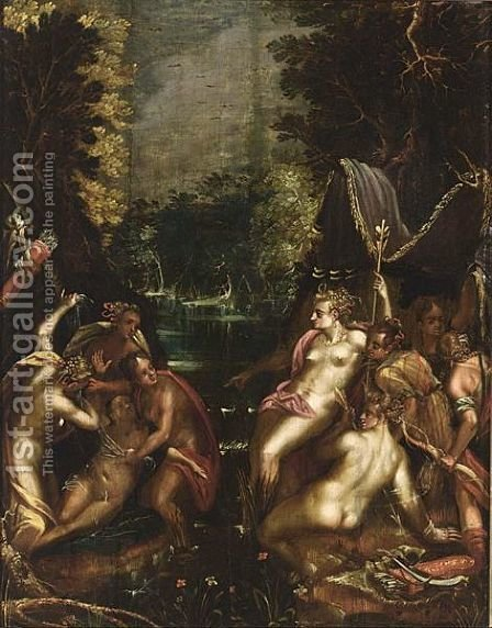 Diana And Callisto by (after) Marten Van Valckenborch I - Reproduction Oil Painting