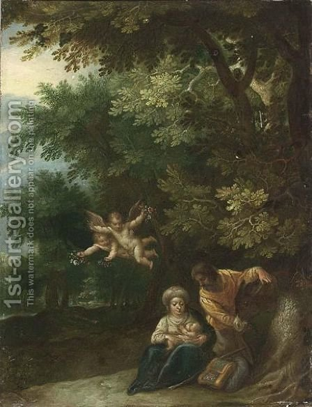 The Rest On The Flight To Egypt by (after) Jan The Elder Brueghel - Reproduction Oil Painting