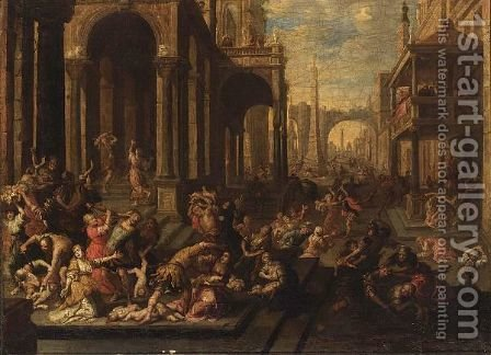 The Massacre Of The Innocents by (after) Hans I Rottenhammer - Reproduction Oil Painting