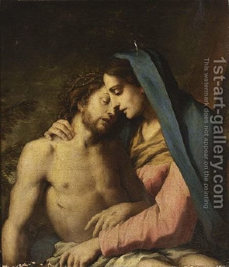 The Pieta 2 by (after) Francesco Trevisani - Reproduction Oil Painting
