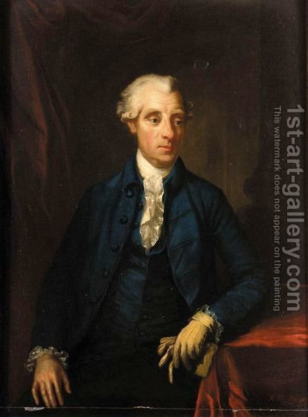 Portrait Of Simon Earl Of Harcourt by (after) Hunter, Robert - Reproduction Oil Painting