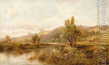River Landscape by (after) Henry Deacon Hillier Parker - Reproduction Oil Painting