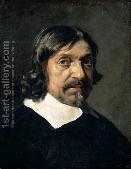 Portrait Of A Man, Head And Shoulders, Said To Be The Philosopher Renee Descartes by (after) Mathieu Le Nain - Reproduction Oil Painting