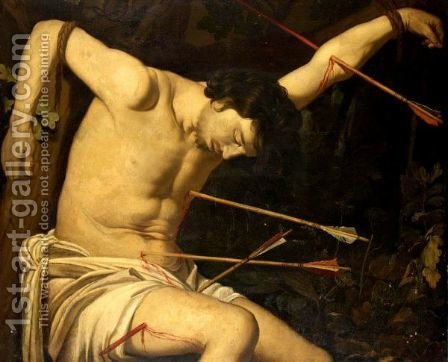 St. Sebastian by (after) Honthorst, Gerrit van - Reproduction Oil Painting