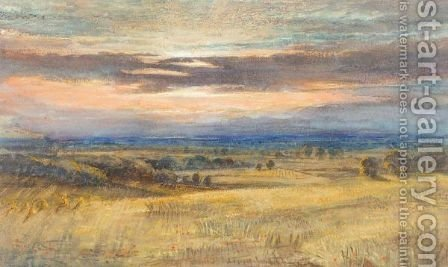 Sunset Over Dartmoor by (after) Joseph Mallord William Turner - Reproduction Oil Painting