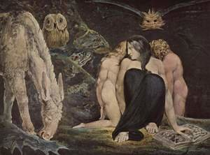 Reproduction oil paintings - William Blake - Hecate Or The Three Fates 1795