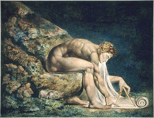 Reproduction oil paintings - William Blake - Isaac Newton 1795
