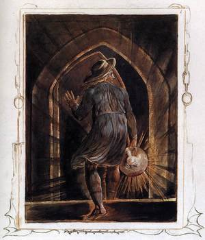 Reproduction oil paintings - William Blake - Los Entering The Grave