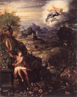 Mannerism painting reproductions: Allegory of the Creation c. 1585