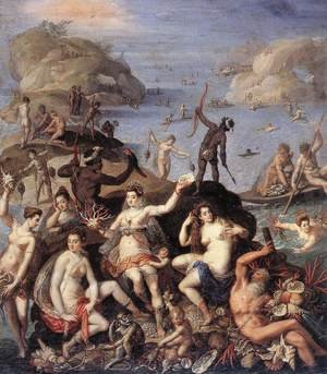 Mannerism painting reproductions: The Coral Fishers c. 1585