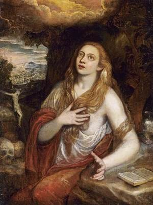 Mannerism painting reproductions: Penitent Magdalene