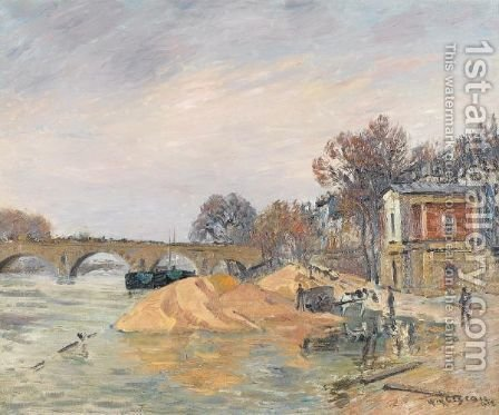 Le Pont Marie De Paris by Gustave Loiseau - Reproduction Oil Painting