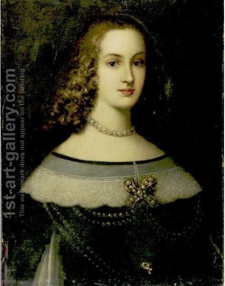 Portrait Of A Lady by (after) Justus Sustermans - Reproduction Oil Painting