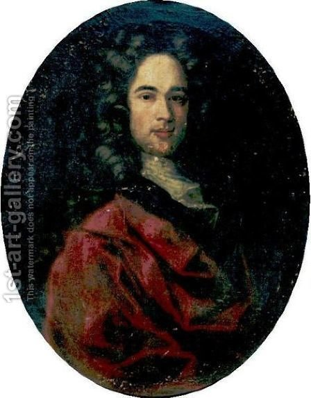 Portrait Of A Man 2 by (after) Largilliere, Nicholas de - Reproduction Oil Painting