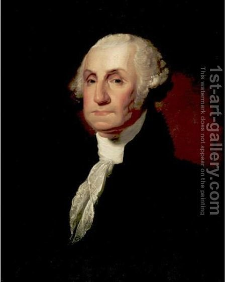 George Washington (The Atheneum Portrait) by (after) Gilbert Stuart - Reproduction Oil Painting