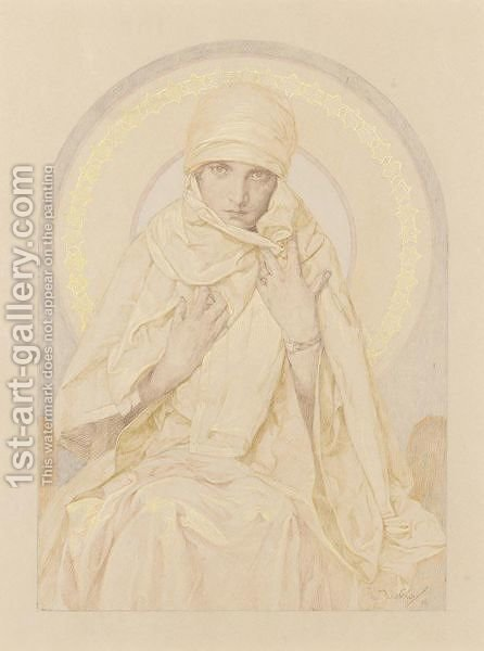 Jaroslava 2 by Alphonse Maria Mucha - Reproduction Oil Painting