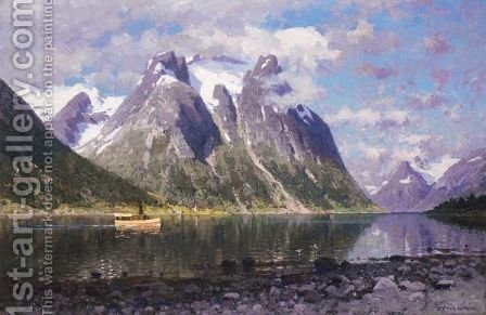 Saltenfjorden, Norge (The Saltenfjord, Norway) by Adelsteen Normann - Reproduction Oil Painting