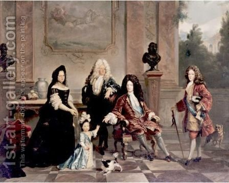 Louis XIV And His Heirs by (after) Nicolas De Largillierre - Reproduction Oil Painting