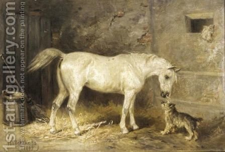 Stable Friends by (after) Nikolai Egorovich Sverchkov - Reproduction Oil Painting