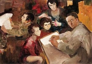 Famous Paintings Of Family Self Portrait The Artist With His