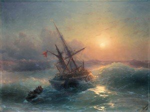 Reproduction oil paintings - Ivan Konstantinovich Aivazovsky - The Shipwreck 6